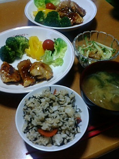 20091001鶏肉オレンジソース